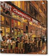 Bistrot Champollion Acrylic Print by Guido Borelli