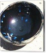 Black And Blue Bowl Acrylic Print by Leahblair Jackson
