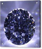 Black Diamond Shine Aura. Acrylic Print by Atiketta Sangasaeng