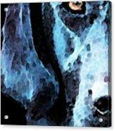 Black Labrador Retriever Dog Art - Hunter Acrylic Print by Sharon Cummings