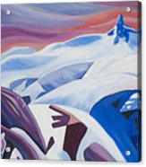 Black Tusk Sunrise Acrylic Print by Ginevre Smith