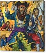 Blackbeard Acrylic Print by Richard Hook