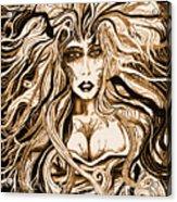 Blackmedusa-sepia Acrylic Print by Steve Farr