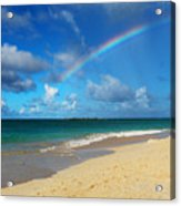 Blessed With A Rainbow Acrylic Print by Kerri Ligatich