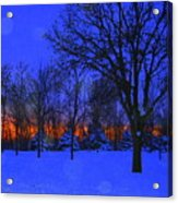 Blizzard Blues 2 Acrylic Print by Julie Lueders