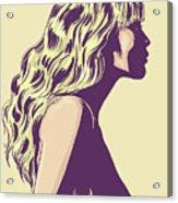 Blonde Acrylic Print by Giuseppe Cristiano