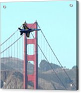 Blue Angels Crossing The Golden Gate Bridge 3 Acrylic Print by Wingsdomain Art and Photography