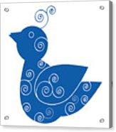 Blue Bird Acrylic Print by Frank Tschakert