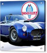 Blue Cobra Acrylic Print by Rod Seel