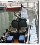 Blue Gondola Acrylic Print by Italian Art