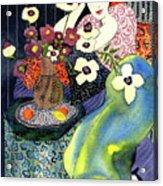 Blue Harmony  Acrylic Print by Leslie Marcus