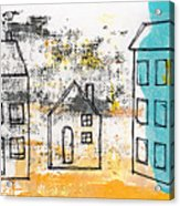 Blue House Acrylic Print by Linda Woods