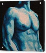 Blue Acrylic Print by Jindra Noewi