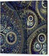 Blue Machine Acrylic Print by Martin Capek