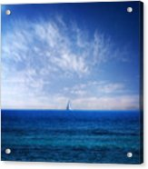Blue Mediterranean Acrylic Print by Stelios Kleanthous