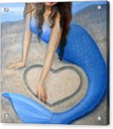 Blue Mermaid's Heart Acrylic Print by Sue Halstenberg
