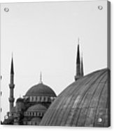 Blue Mosque, Istanbul Acrylic Print by Dave Lansley