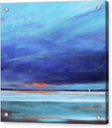 Blue Night Sail Acrylic Print by Toni Grote