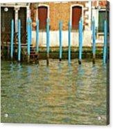 Blue Poles In Venice Acrylic Print by Michael Henderson