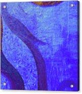 Blue Seed Acrylic Print by Ishwar Malleret