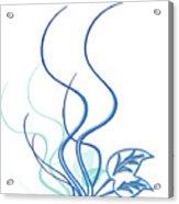 Blue Vine Acrylic Print by Svetlana Sewell