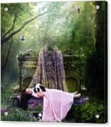 Bluebell Dreams Acrylic Print by Mary Hood
