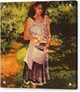 Blueberry Girl Acrylic Print by Elizabeth Carr