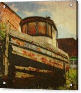 Boat At Apalachicola Acrylic Print by Toni Hopper