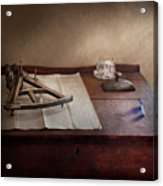 Boat - The Joy Of Sextant Acrylic Print by Mike Savad