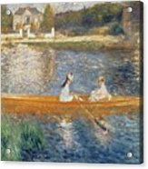 Boating On The Seine Acrylic Print by Pierre Auguste Renoir