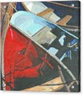 Boats At The Dock Acrylic Print by Jim Peirce