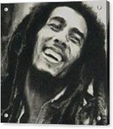 Bob Marley Acrylic Print by Dan Lamperd