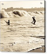 Body Surfing Family Acrylic Print by Marilyn Hunt