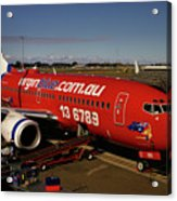Boeing 737-7q8 Acrylic Print by Tim Beach
