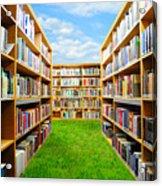 Book Garden Acrylic Print by Roman Rodionov