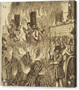 Book Of Martyrs, 1563 Acrylic Print by Granger