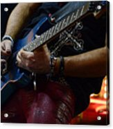 Boss Guitar Player Acrylic Print by Bob Christopher