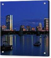 Boston City Lights Acrylic Print by Juergen Roth