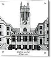 Boston College Acrylic Print by Frederic Kohli