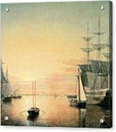 Boston Harbor Acrylic Print by Fitz Hugh Lane