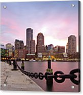 Boston Harbor Acrylic Print by Photo by Jim Boud
