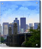 Boston  Acrylic Print by Julie Lueders