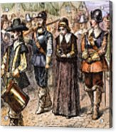 Boston: Mary Dyer, 1660 Acrylic Print by Granger