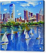 Boston Skyline Acrylic Print by Diane Bell