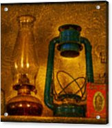 Bottles And Lamps Acrylic Print by Evelina Kremsdorf