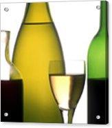 Bottles Of Variety Vine Acrylic Print by Bernard Jaubert