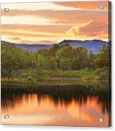 Boulder County Lake Sunset Landscape 06.26.2010 Acrylic Print by James BO  Insogna