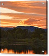 Boulder County Lake Sunset Vertical Image 06.26.2010 Acrylic Print by James BO  Insogna