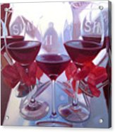 Bouquet Of Cabernet Acrylic Print by Penelope Moore