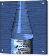 Bouteille De L'eau Acrylic Print by Andy  Mercer